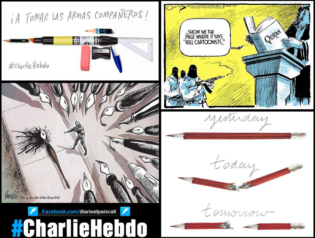Repudiamos la masacre de los periodistas de Charlie Hebdo