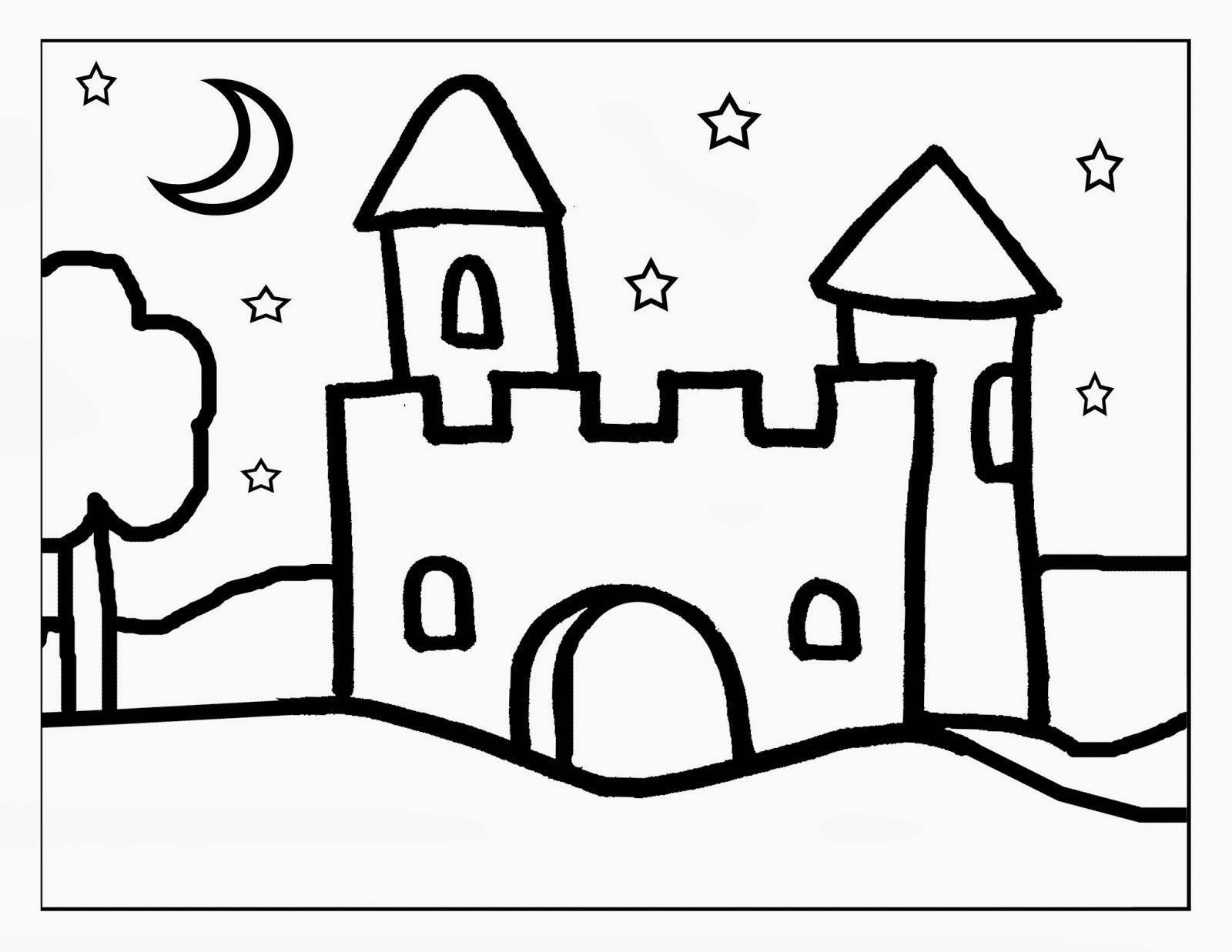 Castillo para colorear - Imagui