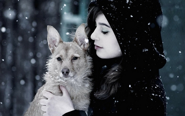 Beautiful Woman With Animal | all about photo