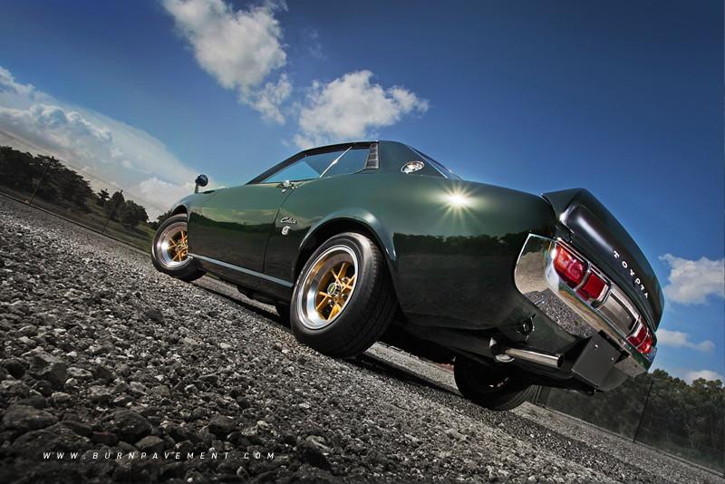 fajne sportowe samochody, japońskie, kultowe, Toyota Celica, fotki, RWD, zielony, green, tył