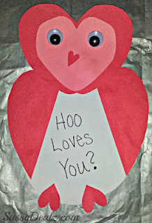valentines day owl hoo loves you craft