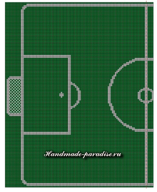 Схема вышивки футбольного поля