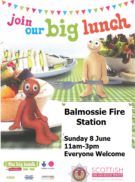 Balmossie Fire Station, Broughty Ferry - Big Lunch Poster 2014
