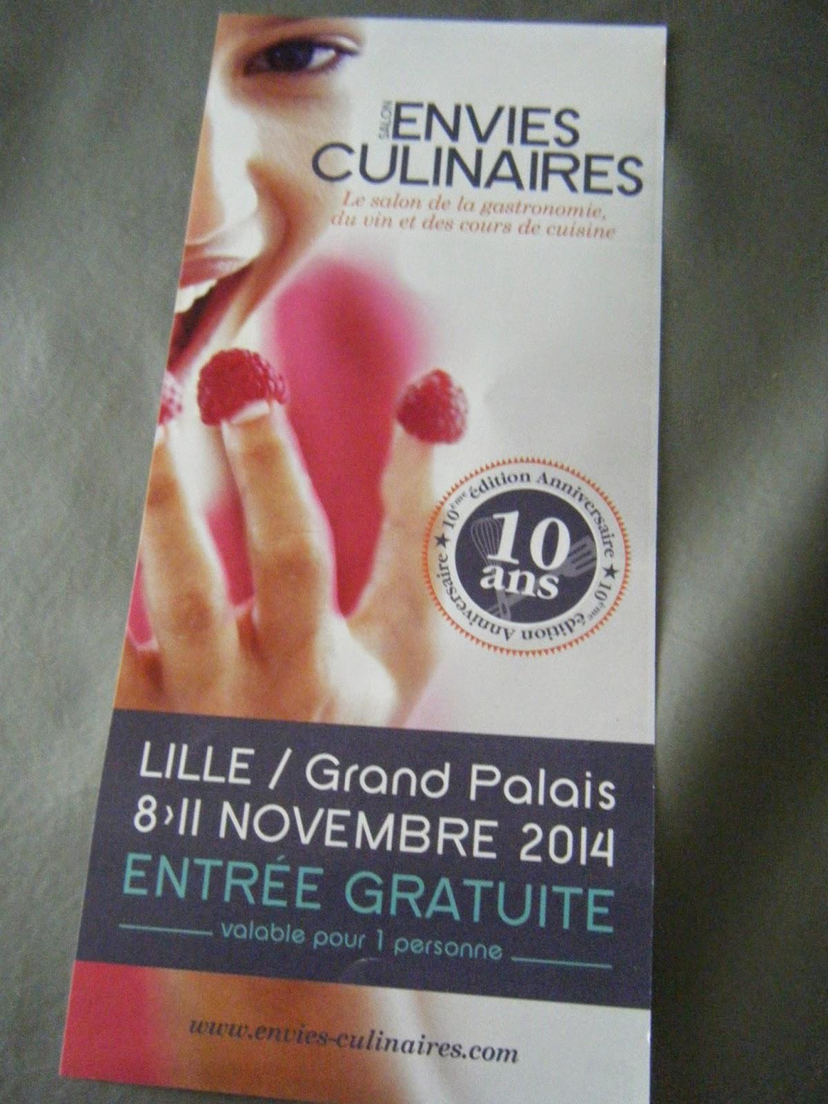Les taratatas de sandra dans ma bo te aux lettres 6 for Salon culinaire lille