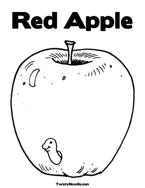 Coloring Pages for Kids Apple Coloring Pages for Kids