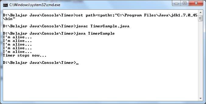 Menjalankan Java Melalui Console Windows