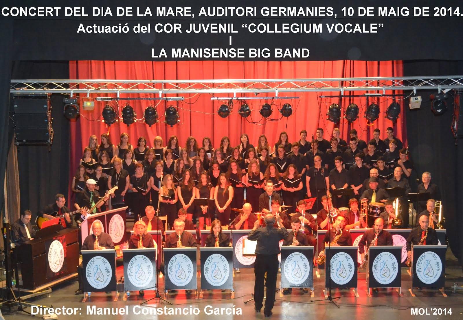 CONCIERTO DE LA MANISENSE BIG BAND. DÍA DE LA MADRE. SÁBADO 10 DE MAYO