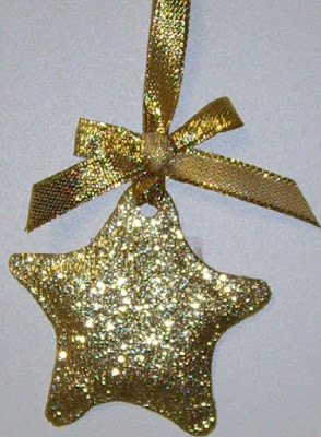 Martha Stewart's Glitter Star Ornaments