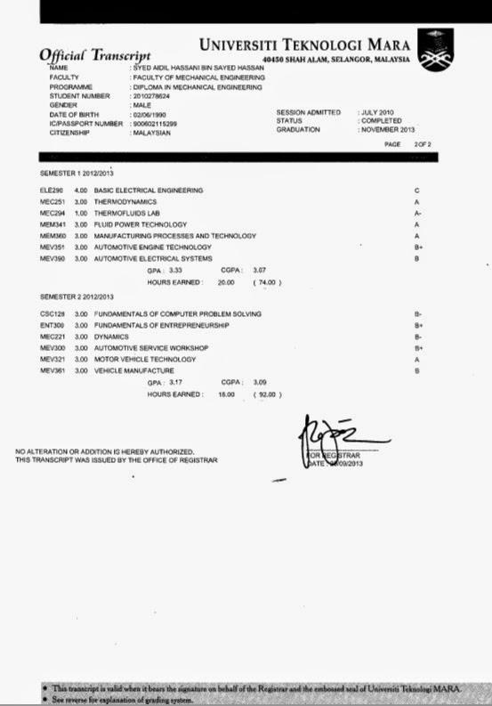 Aidil idrus m cv diploma certificate diploma transcript yelopaper Gallery