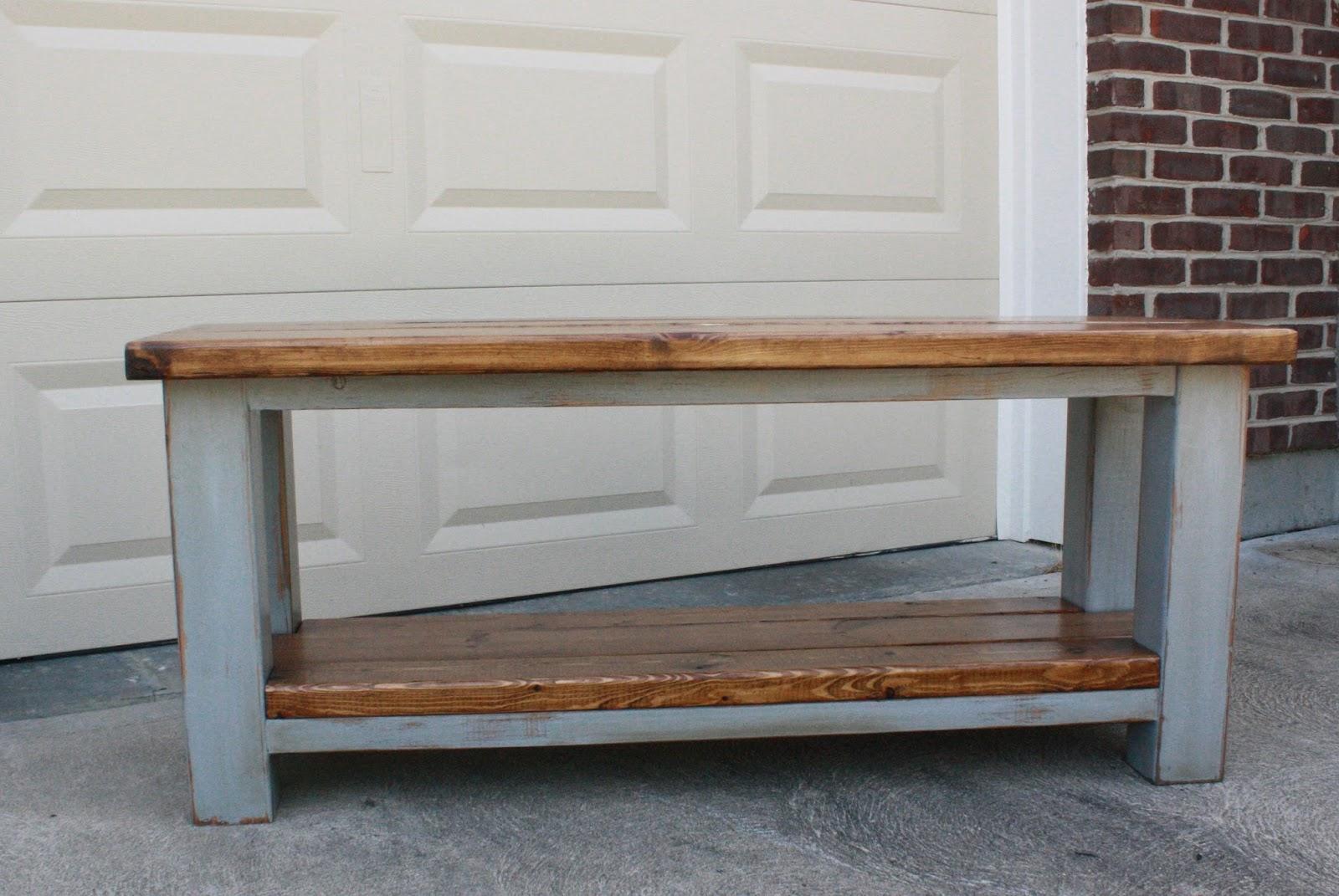 Gretchen s Garage New Farmhouse Bench