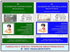 MI CUADERNO DE COMUNICACIONES (Educación Primaria y Secundaria)