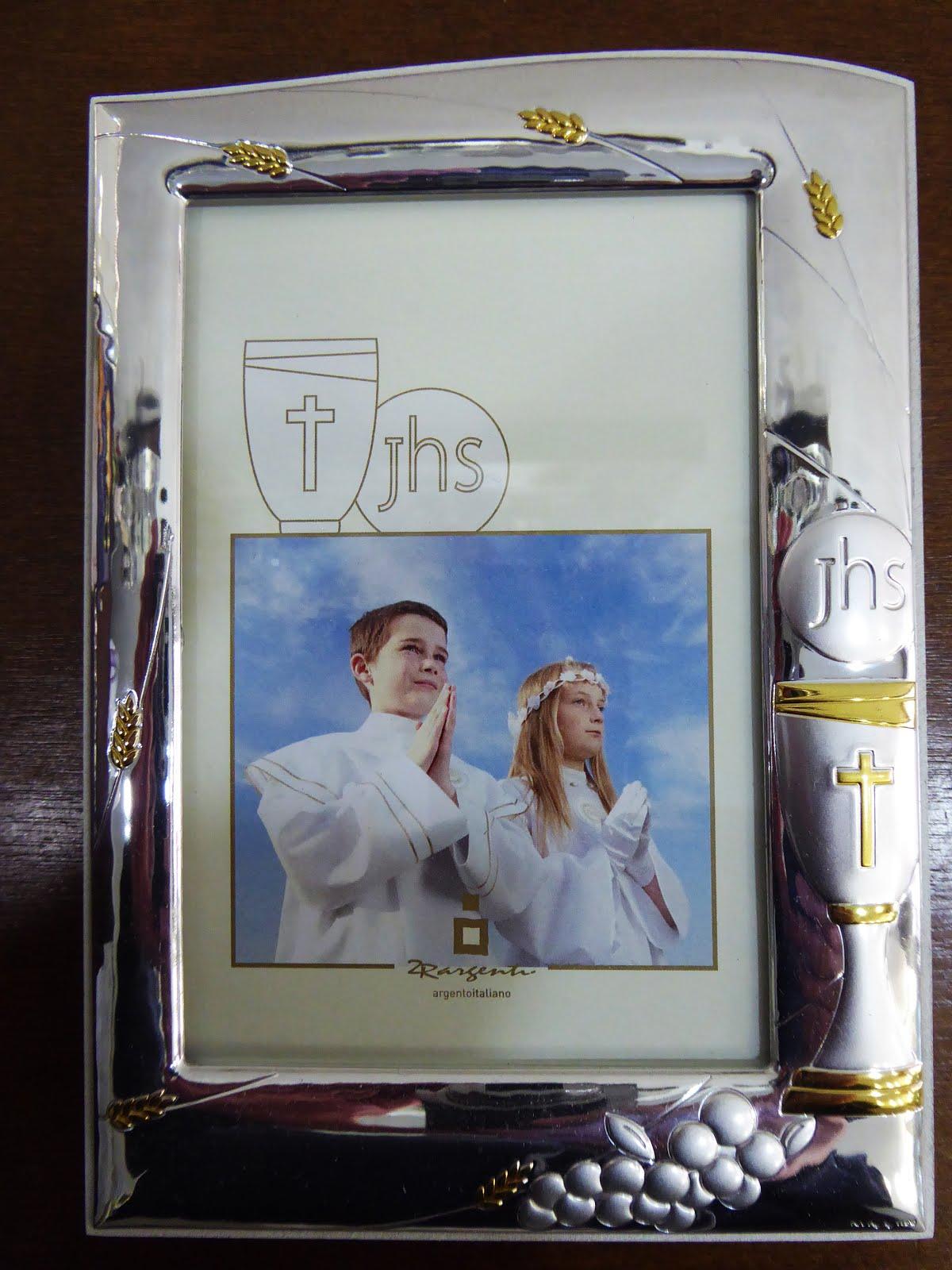 Marco de plata para comunión