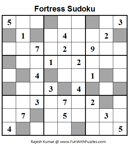 Fortress Sudoku (Daily Sudoku League #67)