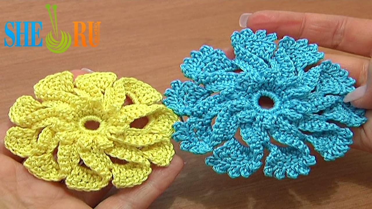 Sheruknitting Crochet Flower Tutorial 51