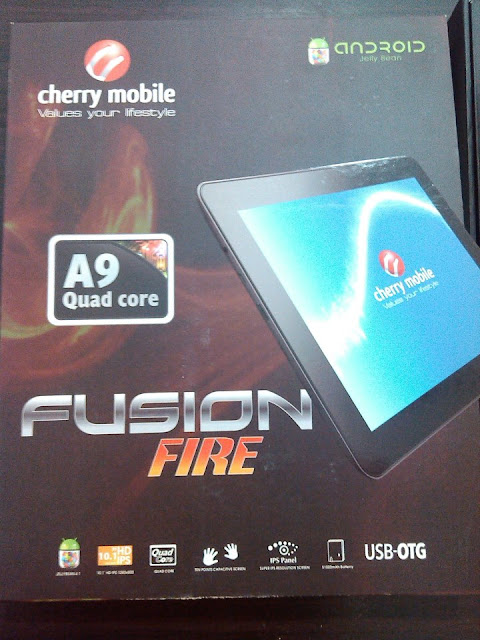 "Cherry Mobile Fusion Fire: 10.1"" Android 4.1 Jelly Bean Quadcore Tablet Specs, Features, Price And Availability"