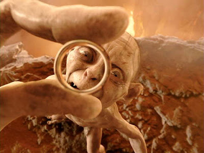 Gollum and his precious ring (The Lord Of The Rings)
