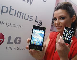 Imagem da divulgação do lançamento do LG Optimus L3