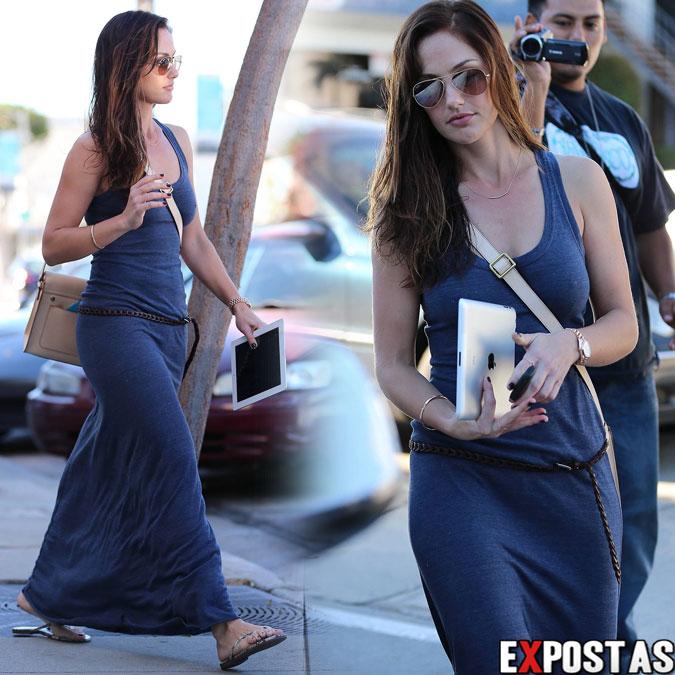 Minka Kelly deixando salão de beleza em Los Angeles - 25 de Outubro de 2012