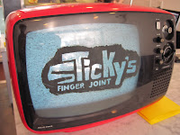 New in New York the restaurant may be, but this is the Sticky's Finger Joint vintage TV.