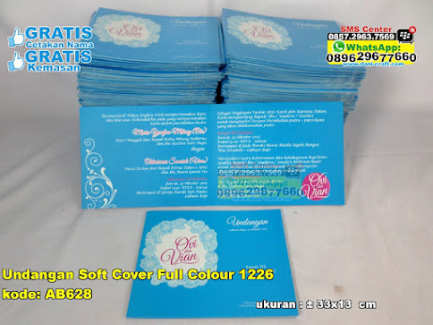 Undangan Soft Cover Full Colour 1226 unik
