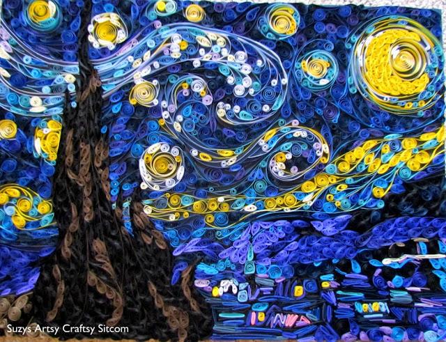 бумаги ремесла гофрированный звездная ночь