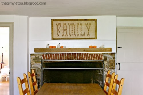 3 neutral fall mantels jaime costiglio for Country living magazine cross stitch