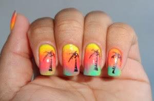 Modelos de unhas tropicais verão 2014