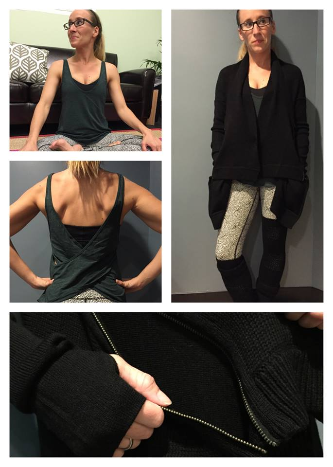 lululemon wrap it up sweater twist n turn tank