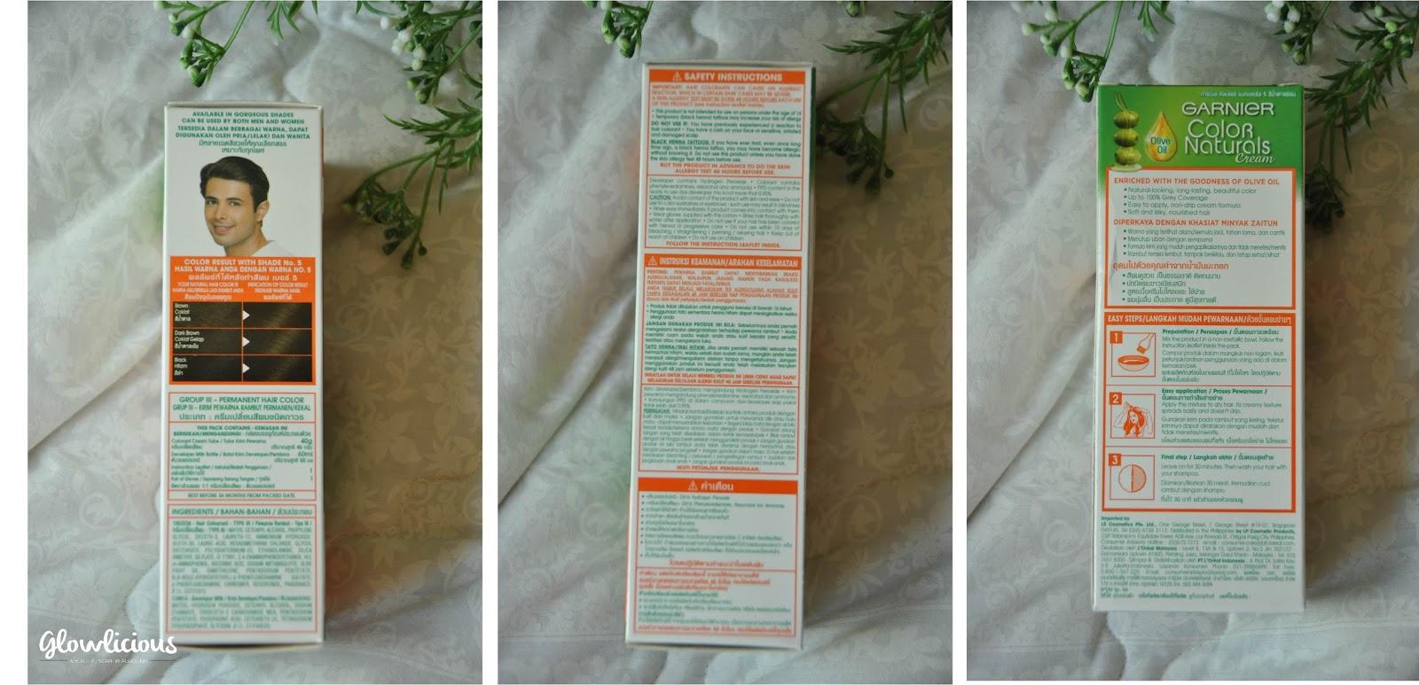 garnier color naturals instructions leaflet