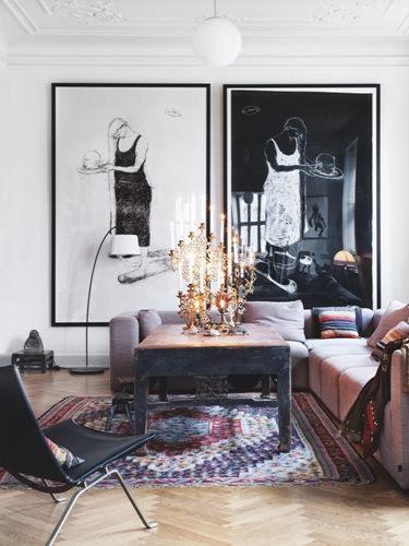 Bilder og kunst i interiøret