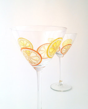 Orange and Lemon Cocktail Glasses