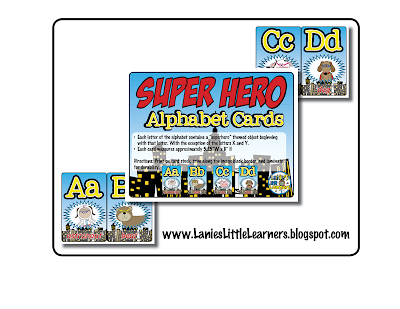 https://www.teacherspayteachers.com/Product/Alphabet-Cards-Superhero-Theme-Printables-1927792