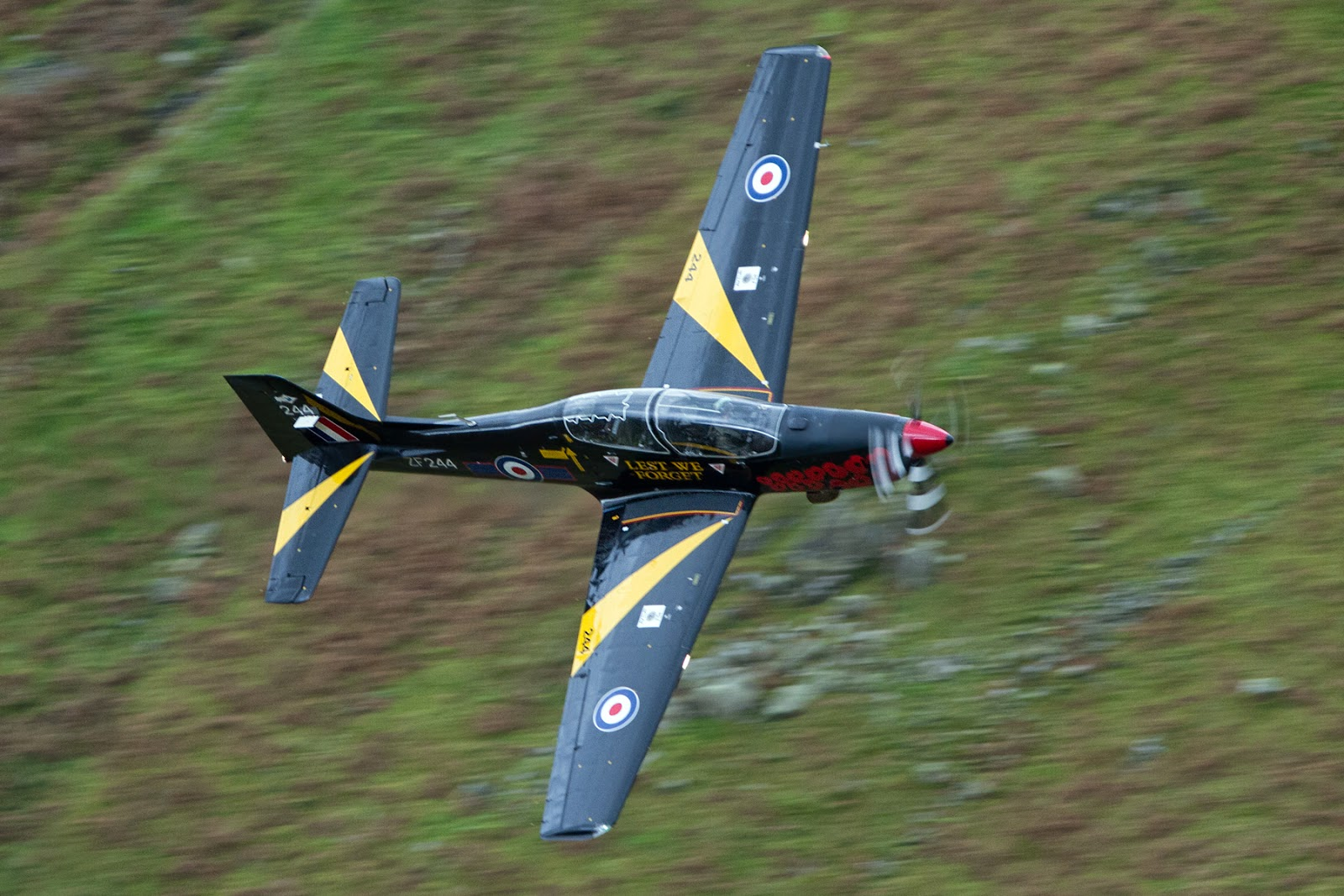 Me flying my last ever tucano sortie low level formation through the lake district