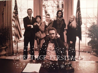 kerstkaartje 2015 meeting with the Obama's