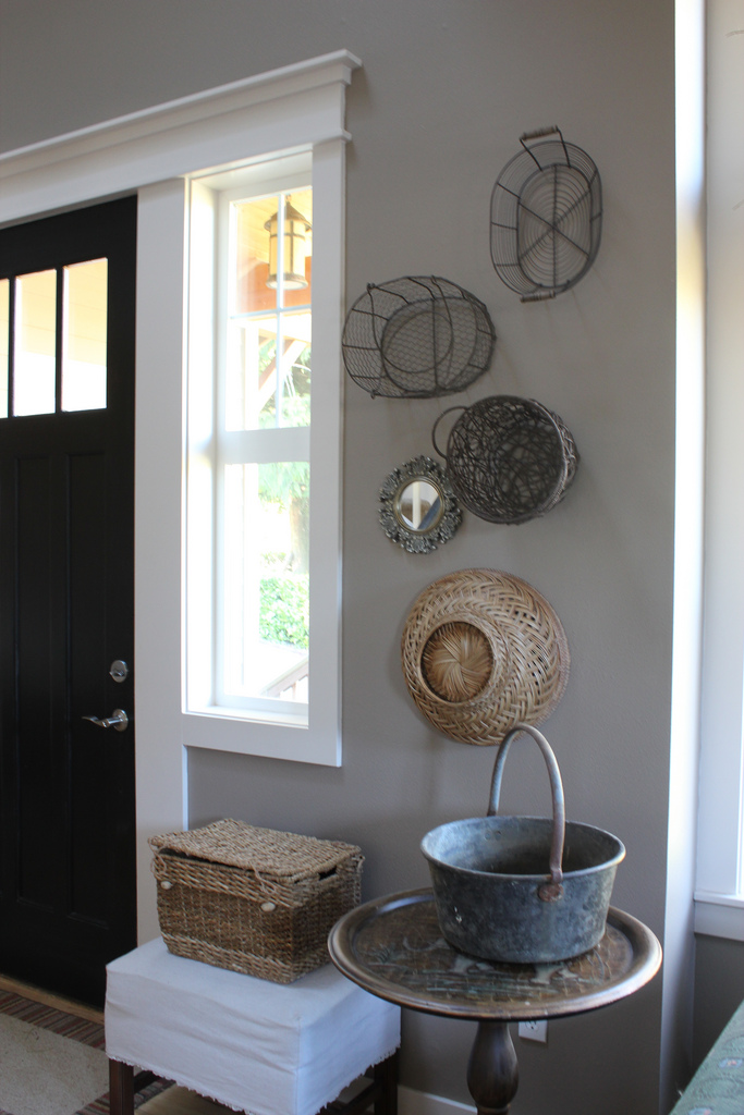 why you really should hang baskets on your walls the creek line house. Black Bedroom Furniture Sets. Home Design Ideas