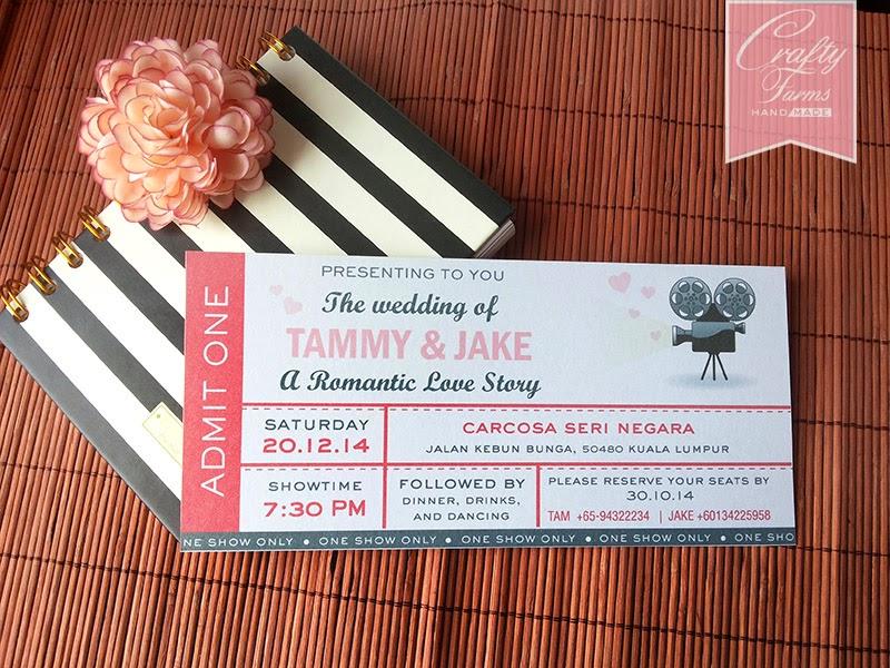 Movie Ticket Themed Wedding Card Kuala Lumpur Malaysia