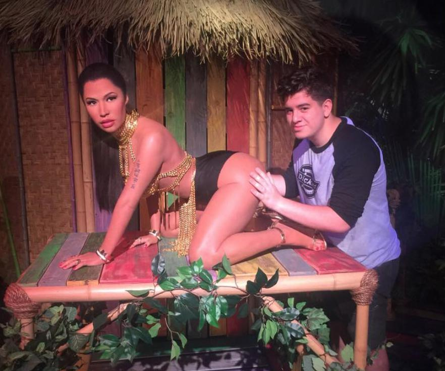 Madame Tussauds said such things were 'unfortunate' and apologised for any offence caused.