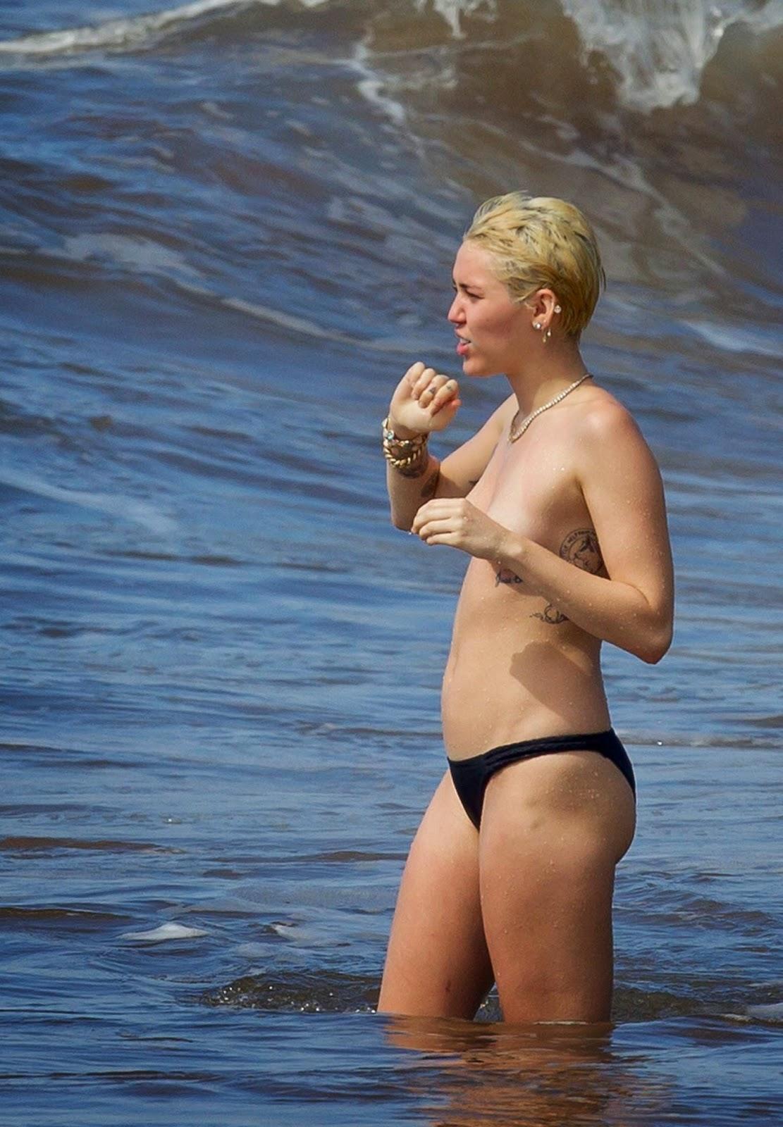 Latina blue bikini