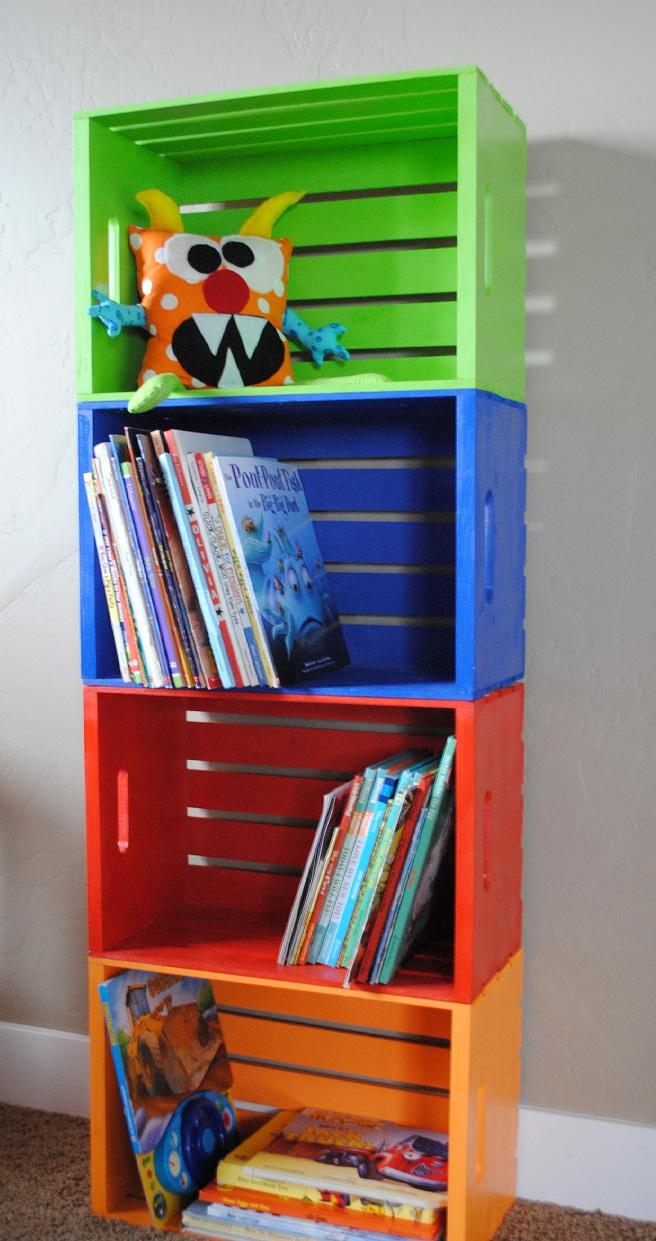 Classroom Bookshelf Ideas ~ Diy bookshelf made from crates