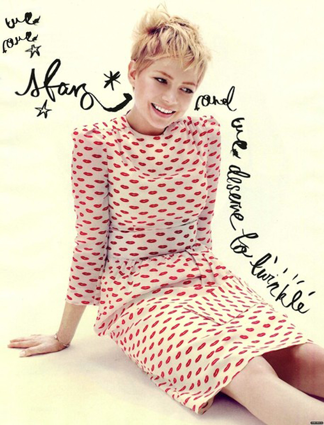 michelle williams, we are stars, lips dress