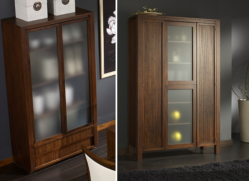 Curio Cabinets. TIBET craftsman furniture collection design by Somerset Harris