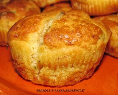 muffin al prosciutto cotto  e scamorza affumicata