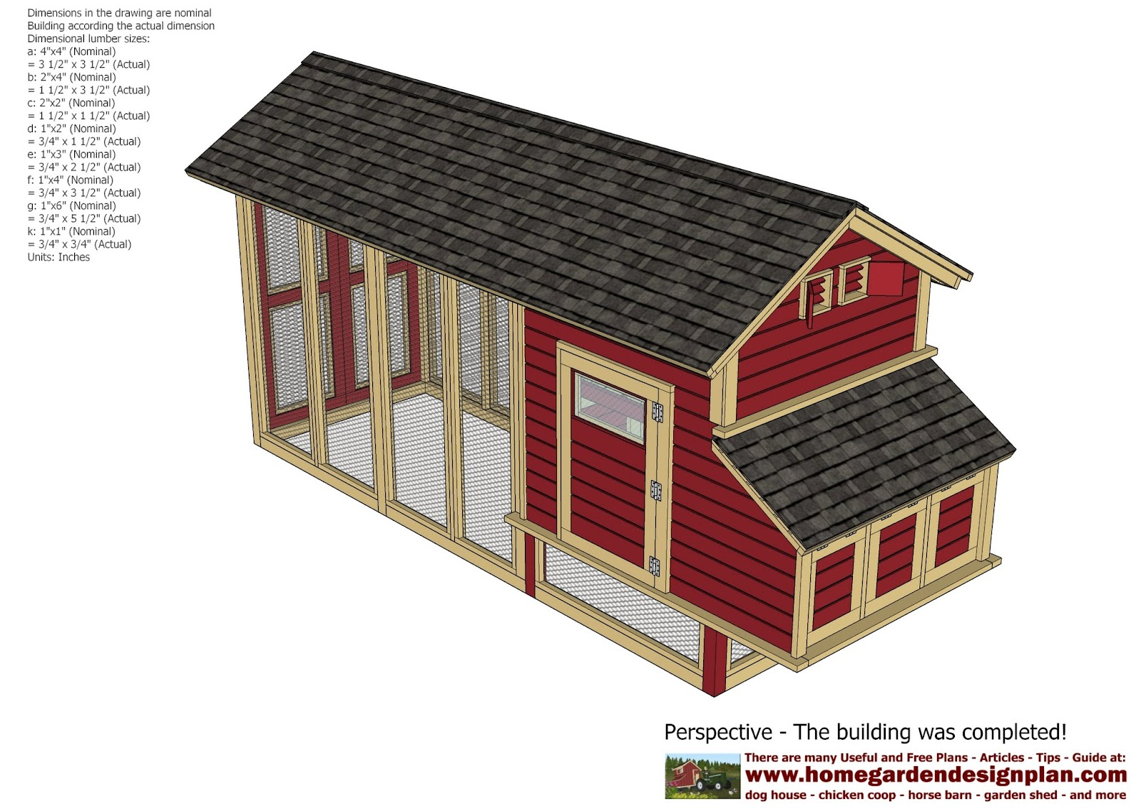 Home garden plans m102 chicken coop plans construction for Chicken coop plans free pdf