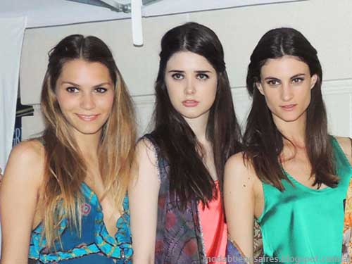 Six O'Clock Tea primavera verano 2014. Backstage looks 2014.