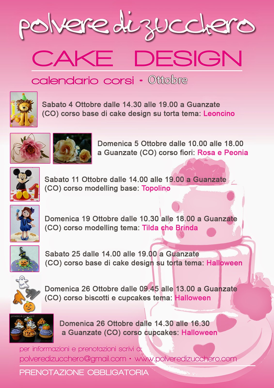 Corsi di cake design a Macherio (MB) e Guanzate (Co ...