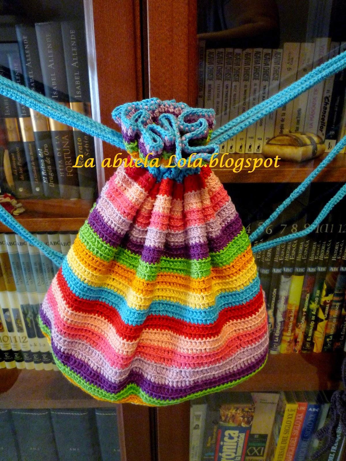 hermoso estilo último clasificado numerosos en variedad La abuela Lola: Mochilas de crochet o ganchillo