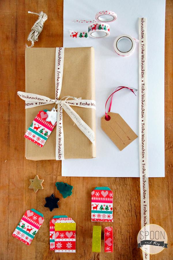 Geschenkanhänger / Gift Tag mit Maskingtape DIY