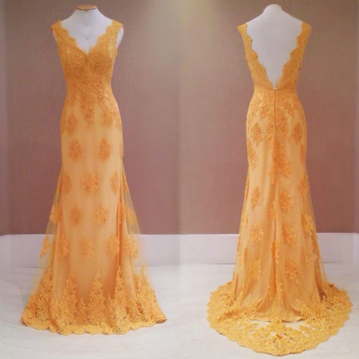 vestido amarelo de renda