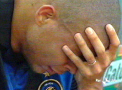 Inter Gagal, Ronaldo menangis