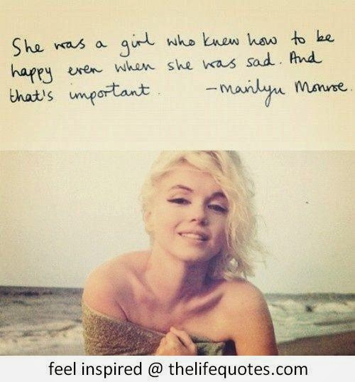 Inspirational Marilyn Monroe Quotes For Women